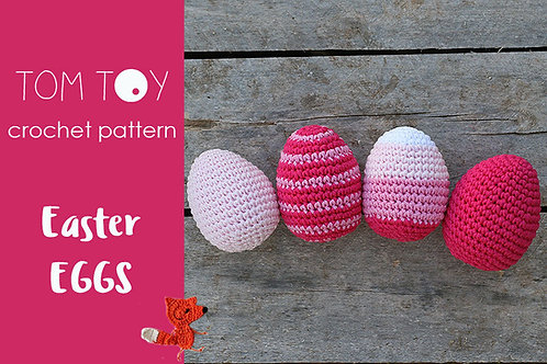 Easter Eggs Crochet PATTERN, Holidays collection