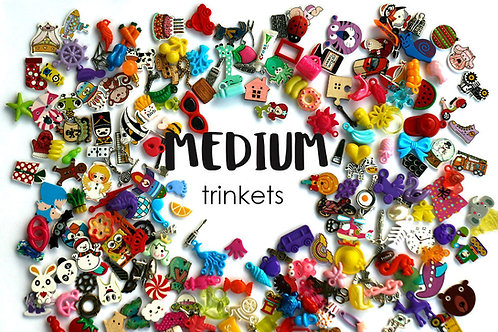 Medium mixed I Spy trinkets for I spy Bag/Bottle, 2-4cm, Set of 20/50/100/200