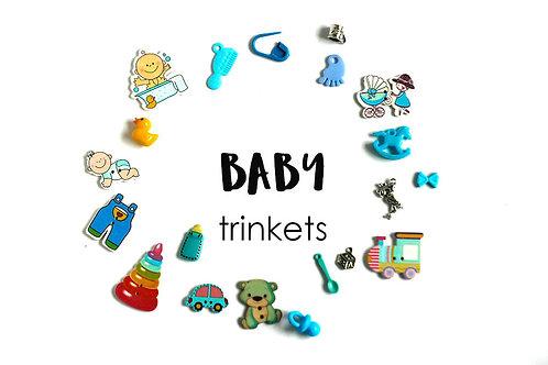 Baby Theme I Spy trinkets, Boy/Girl/Neutral, 1-3cm, Set of 20