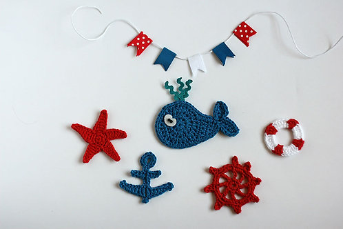 Nautical crochet appliques Handmade by TomToy