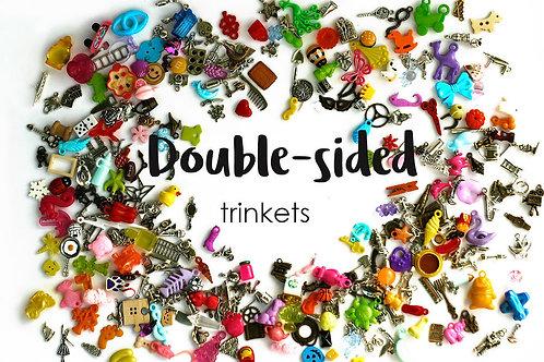 Double-sided mixed I Spy trinkets, 1-3cm, Set of 20/50/100/200