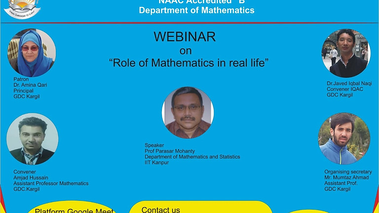 Role of mathematics in real life