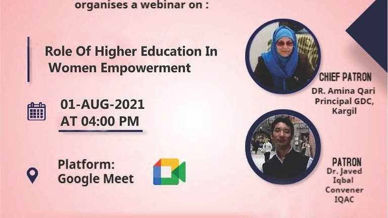 Role of Higher Education in women's Empowerment