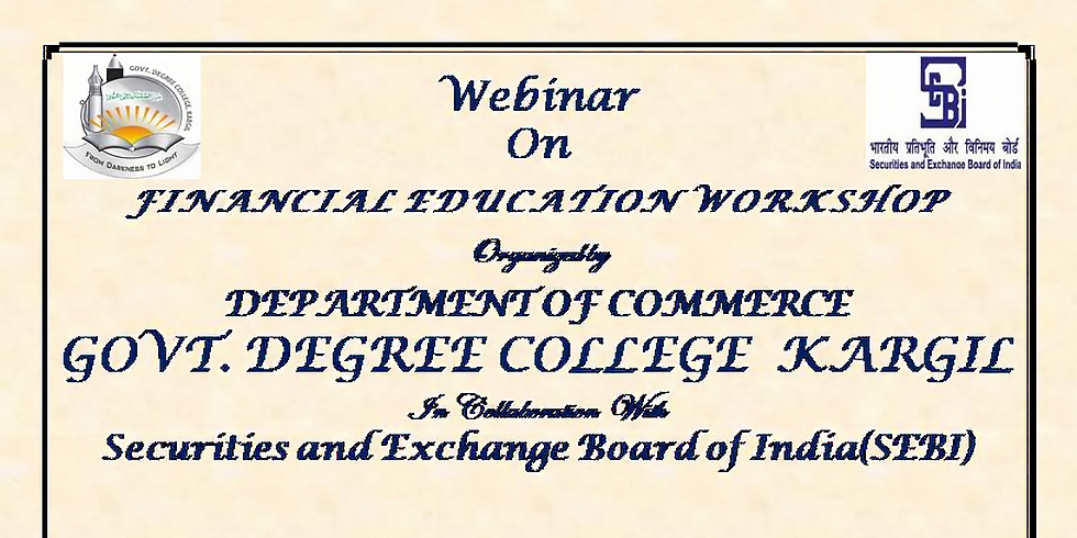 Webinar on Financial Education workshop