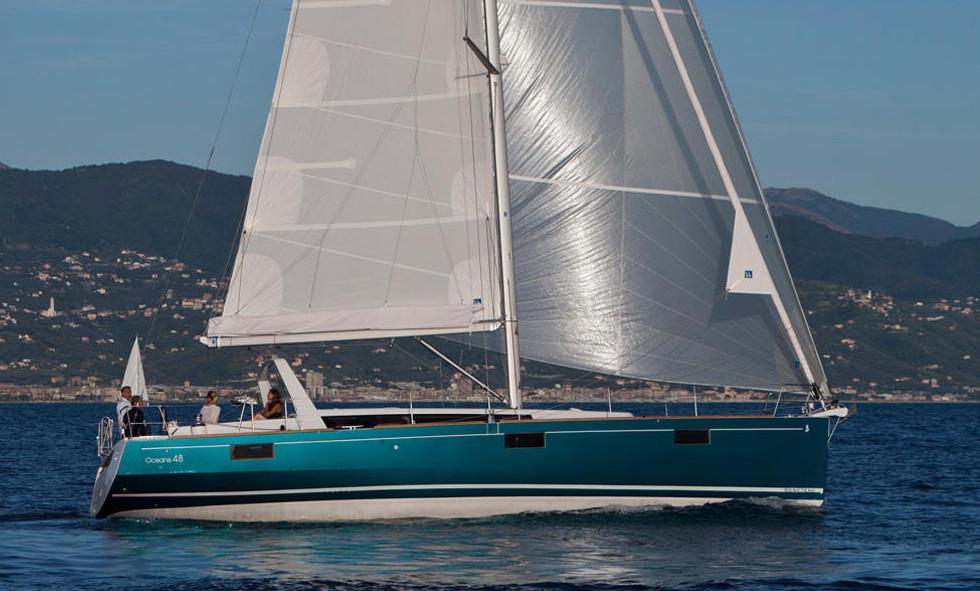 Oceanis 48 yacht charter Aeolian Islands