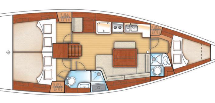 oceanis 40, 3 cabine