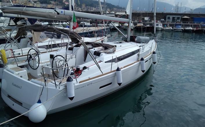 sun odyssey 419 yacht charter Salerno