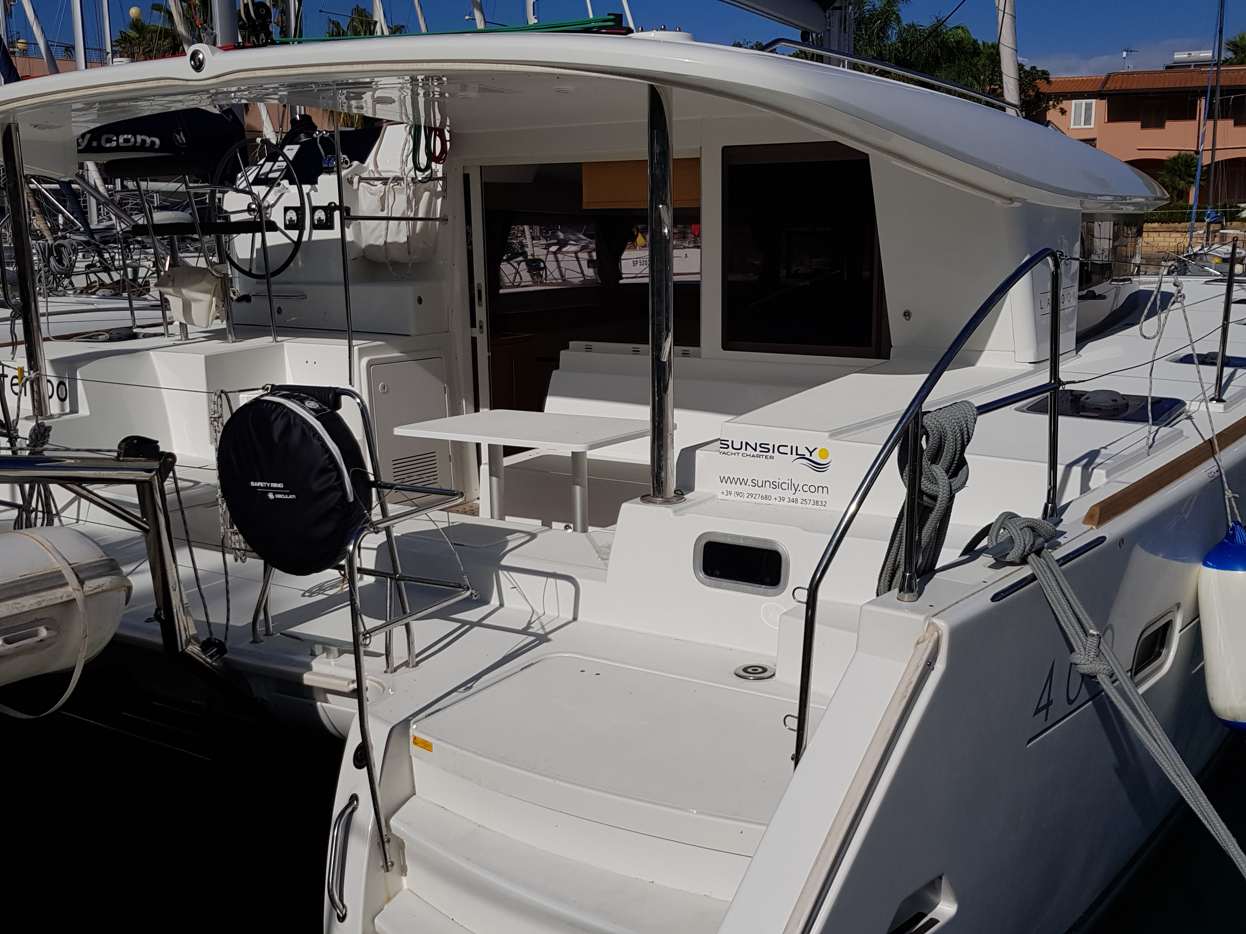 lagoon 400 s2 Sun Sicily yacht chart