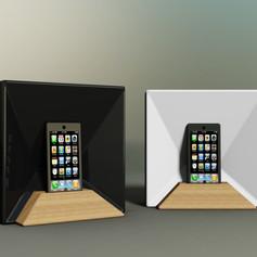 Ceramic and wood passive speaker