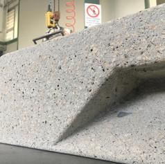 Trachite stone shaping