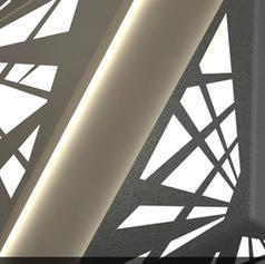 Ceramic 3d printed illumination system