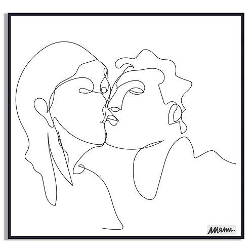 """Tirage d'Art  """"L'AMOUR TOUT COURT"""" 40x40cm LATC/LA/TL"""