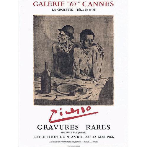Affiche originale PICASSO Galerie 65 Cannes