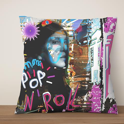 "Coussin ""Mona POP'N  Roll"" 45x45cm"