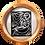 """Thumbnail: OEUVRE ORIGINALE ENCADREE BOIS ANCIEN SUR FER """"Minus à la Mer"""" 46cm/d"""