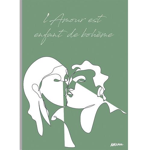 "Tirage d'Art ""L'AMOUR VERT"" 30x40cm LAV/LA/TL"