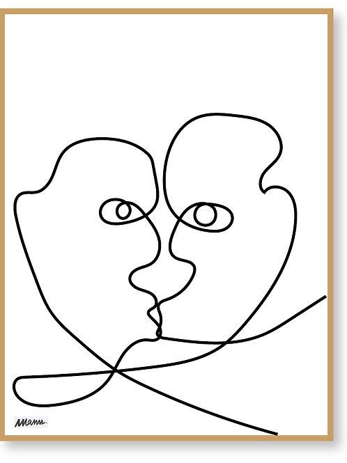 """Tirage d'Art encadré  """"LA CAUSETTE"""" 30x40cm"""