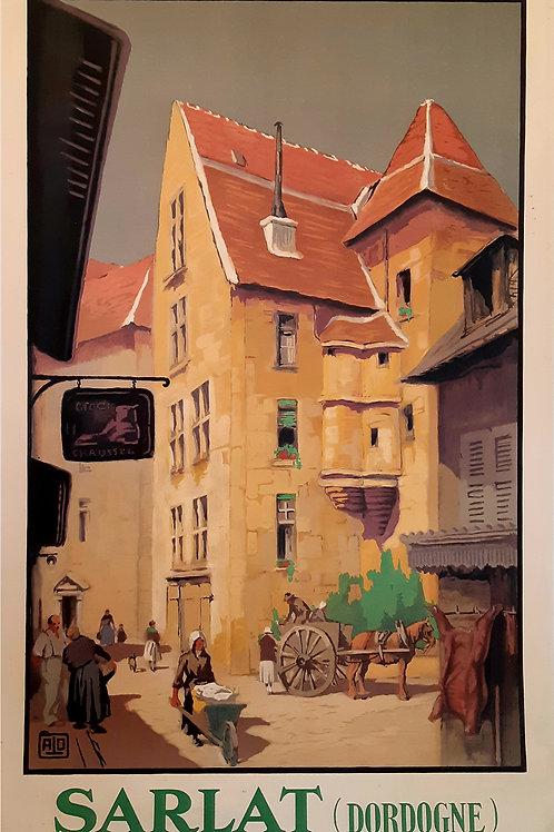 Affiche originale CHEMIN DE FER - JEAN CHARLES HALLO - SARLAT - 1930