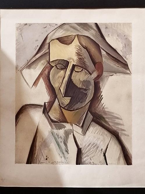 "Affiche originale - ""TÊTE D'ARLEQUIN"" HENRI DESCHAMPS"