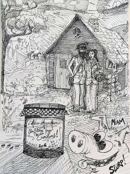 Tirage d'Art - De la Confiture pour les Cochons
