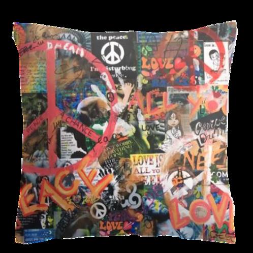"""Coussin """"PEACE"""" 45x45cm"""