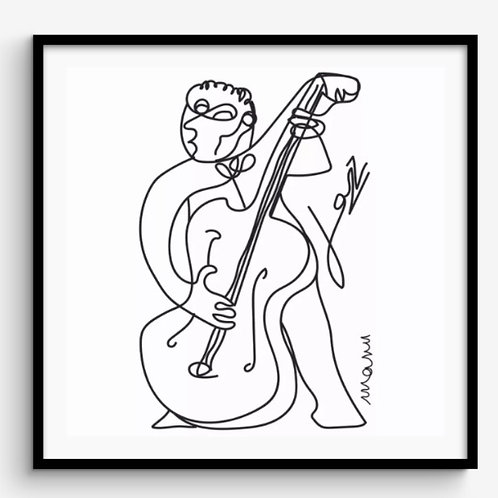 "Tirage d'art encadré ""Jazz"" 40x40cm"