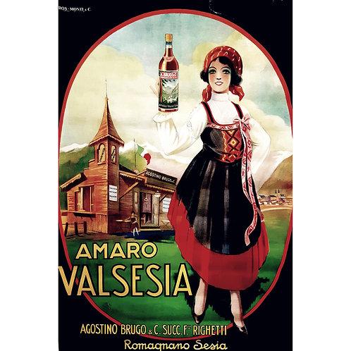 Affiche publicitaire originale AMARO VALSESIA