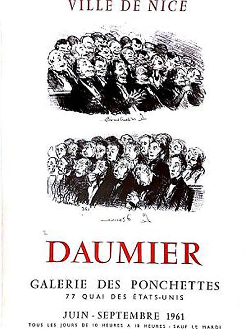 Affiche originale de DAUMIER - Galerie des Ponchettes
