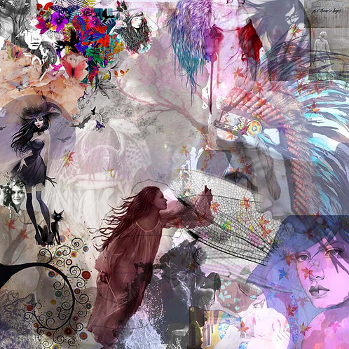 """Tirage d'art """"FAIRIES"""" 70x70cm FA/CO/TL"""