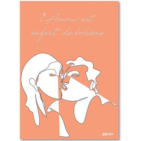 "Tirage d'Art  ""L'AMOUR ROSE"" 30x40cm LAR/LA/TL"