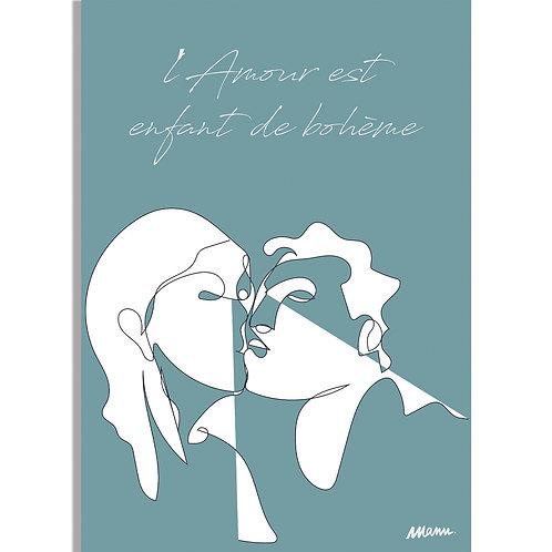 """Tirage d'Art  """"L'AMOUR BLEU"""" 30x40cmLAB/LA/TL"""