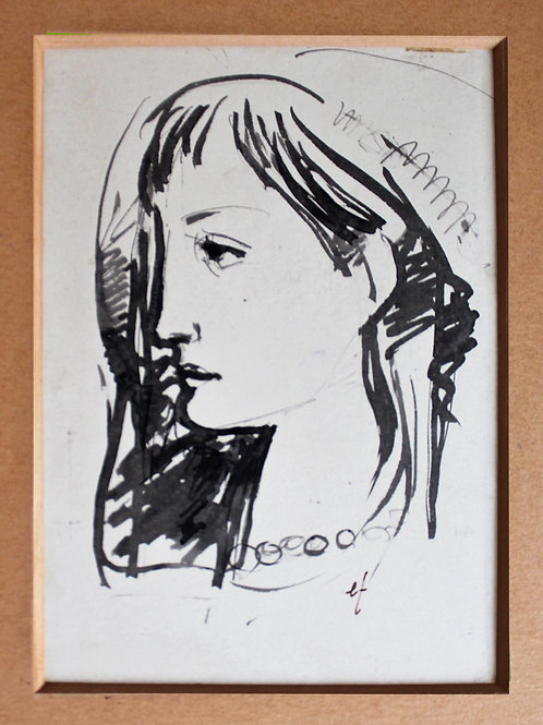 Portrait - Encre de chine - ENZO FUMI