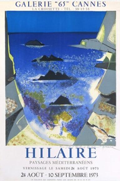 """Affiche """" Méditerranée"""" Hilaire"""