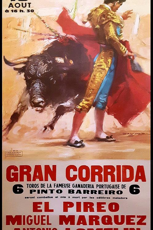 Affiche originale GRAN CORRIDA Arènes de FREJUS