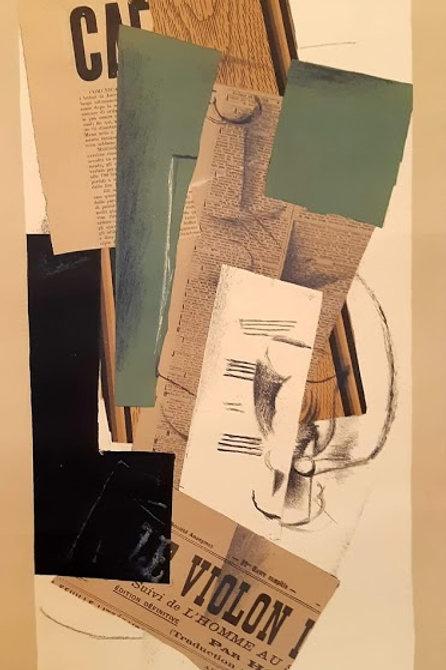 """Affiche Georges Braque """"papiers collés"""""""