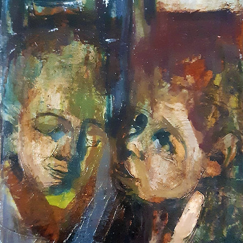 Œuvre originale de DAMIANO - LA FEMME ET L'ENFANT