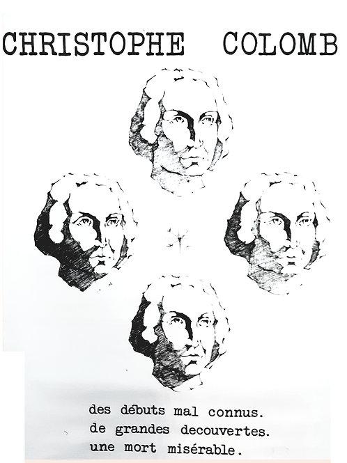 Affiche originale anonyme CHRISTOPH COLOMB