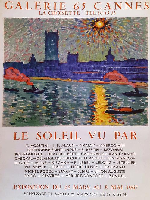 """Affiche originale - DERAIN - """"Le soleil vu par"""" 1965"""