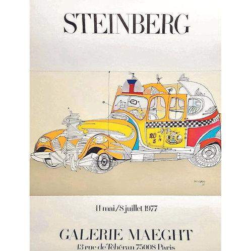 Affiche originale SAUL STEINBERG - Galerie Maeght 1977