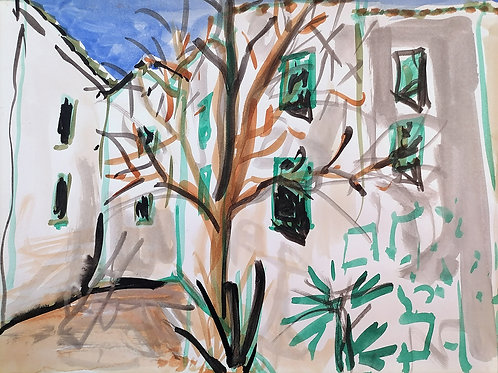"""Tirage d'Art """"Place des Arts Sillans la Cascade"""""""