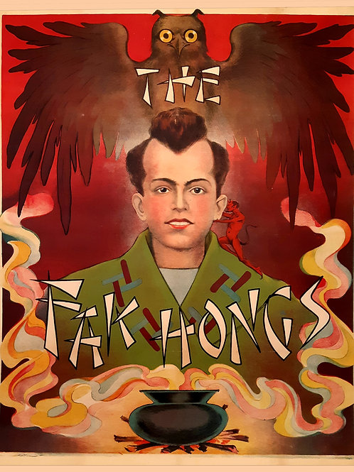 Lithographie sur pierre originale - THE FAK HONGS