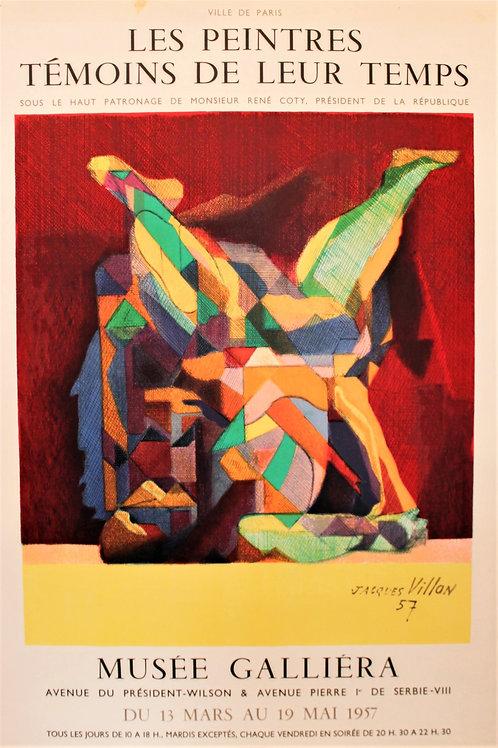 """Affiche signée """"L'acrobate"""" J VILLON"""