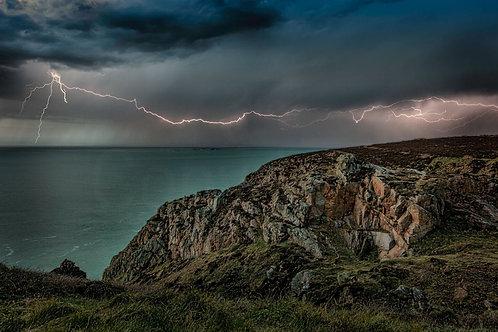 Lightening over North Coast