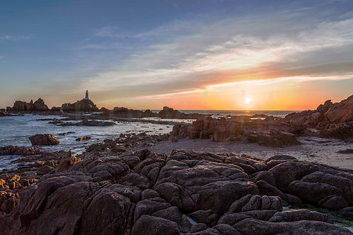 Corbiere Sunset at Low Tide
