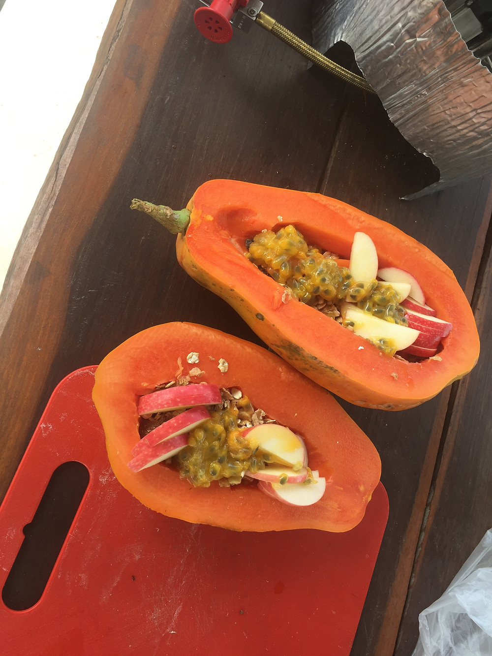 Papaya & passionfruit donated by Artemis station