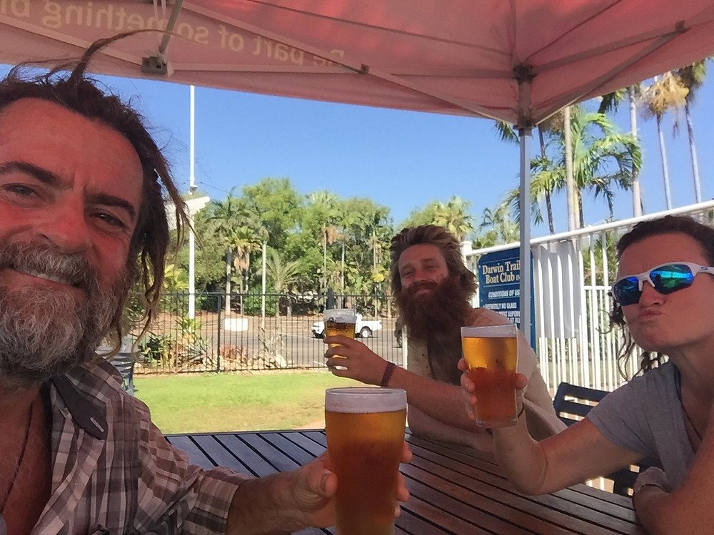 Enjoying an Ice Cold Beer at the Trailer Boat Club Darwin