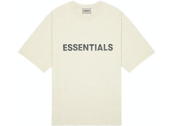 FEAR OF GOD ESSENTIALS 3D Silicon Applique Boxy T-Shirt Buttercream