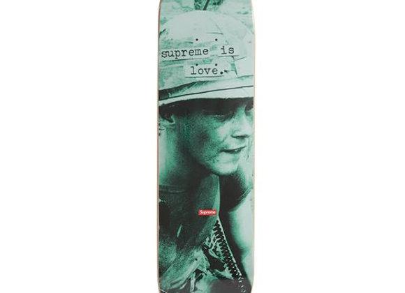 Supreme Supreme is Love Skateboard Teal