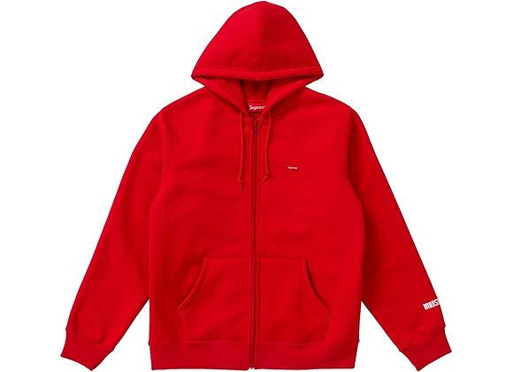 Supreme WINDSTOPPER Zip Up Hooded Sweatshirt Red