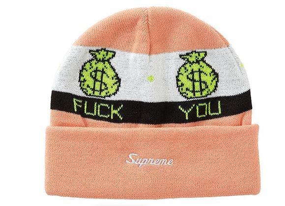 Supreme Pay Me Beanie Peach